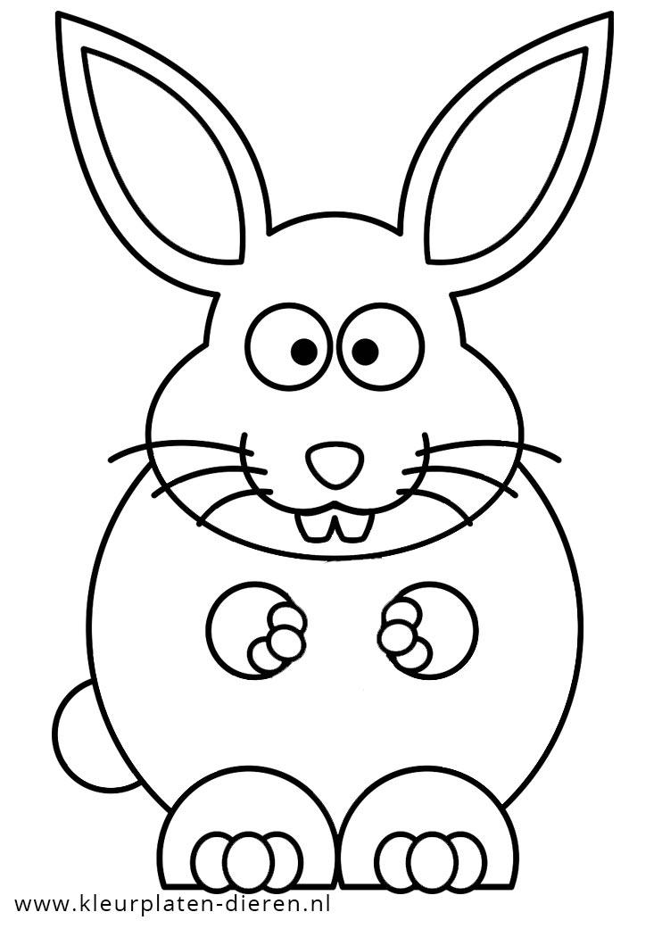 kleurplaat konijn kleurplaten dierenkleurplaten dieren