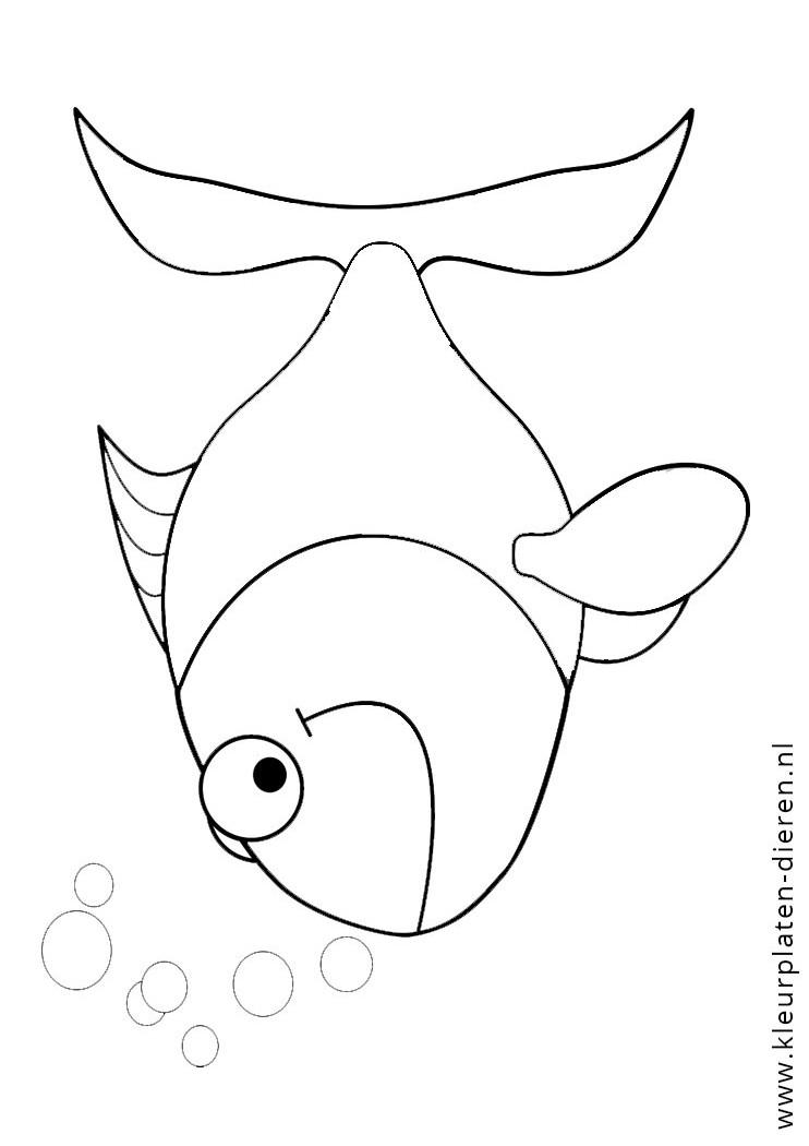kleurplaten vissen kleurplaat met belletjes kleurplaten