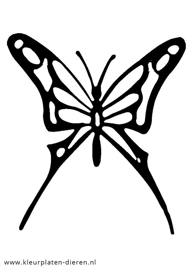 Kleurplaten Dieren Vlinders.Kleurplaat Vlinder Kleurplaten Dierenkleurplaten Dieren